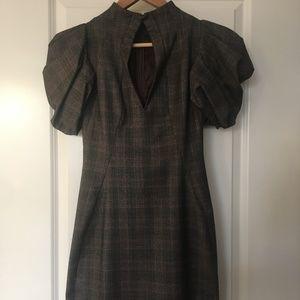 Alexander McQueen Grey Tartan Dress